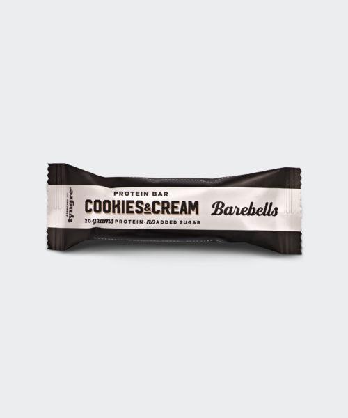 Tyngre Barebells Proteinbar Cookies and Cream Kosttillskott