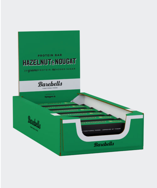 Tyngre Barebells Proteinbar Hazelnut Nougat Kosttillskott