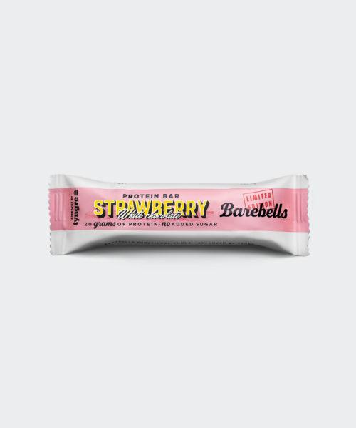 Tyngre Barebells Proteinbar Strawberry White Chocolate Kosttillskott