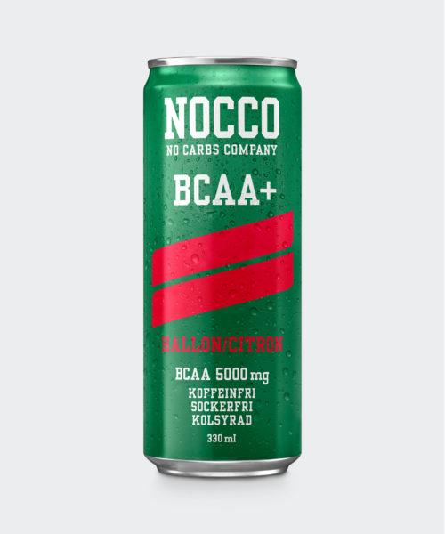 Tyngre NOCCO BCAA+ Hallon/Citron
