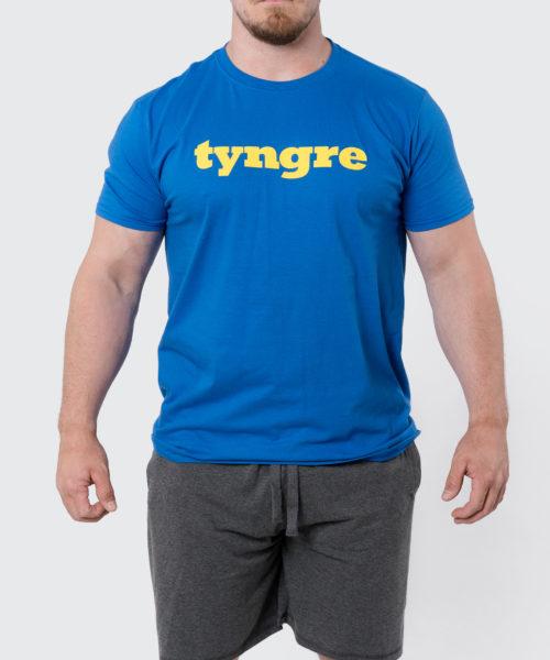 Tyngre T-Shirt Blå Gul Herr Tränings T-Shirt