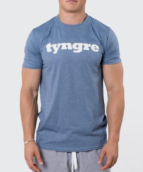 Tyngre T-Shirt Blåmelerad Herr Tränings T-Shirt