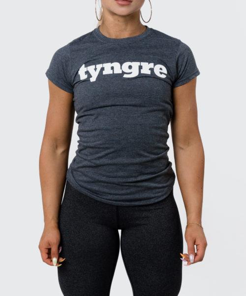 Tyngre T-Shirt Gråmelerad Dam Tränings T-Shirt