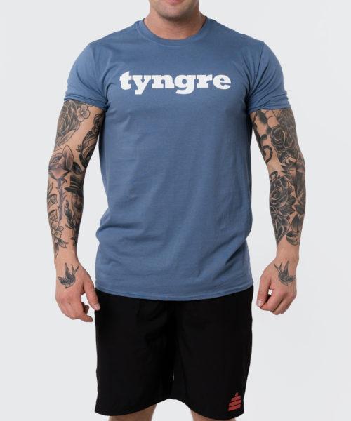 Tyngre T-Shirt Indigo Herr Tränings T-Shirt
