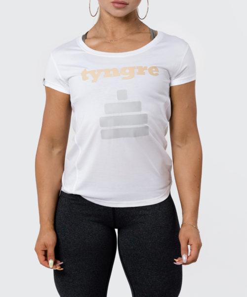 Tyngre T-Shirt Performance Legend Vit Dam Tränings T-Shirt