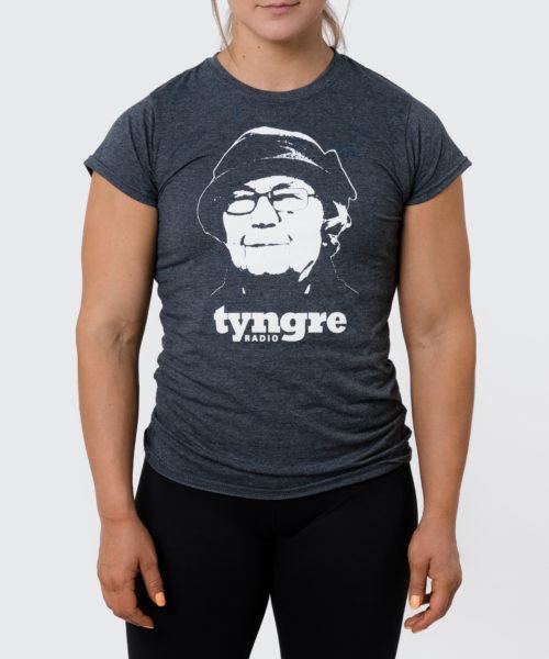 Tyngre T-Shirt Radio Grå Dam Tränings T-Shirt