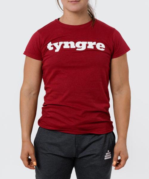 Tyngre T-Shirt Rödmelerad Dam Tränings T-Shirt