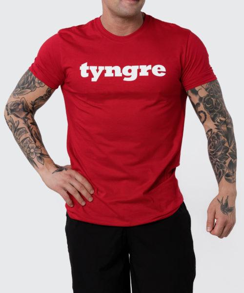Tyngre T-Shirt Röd Herr Tränings T-Shirt