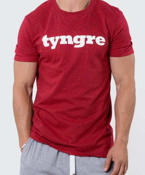 Tyngre T-shirt Rödmelerad Herr Tränings T-Shirt