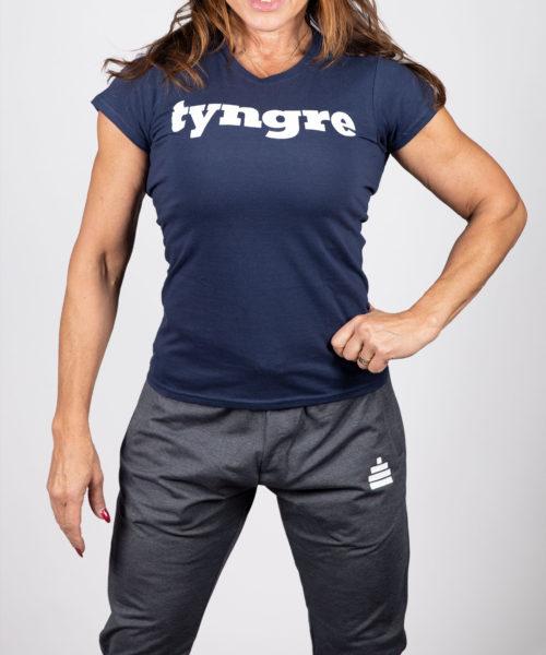 Tyngre T-shirt Mörkblå Dam