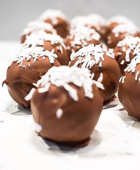 Bountys med smak av mintchoklad