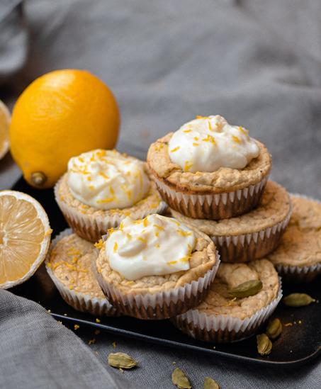 Proteinrika kardemummamuffins med citron