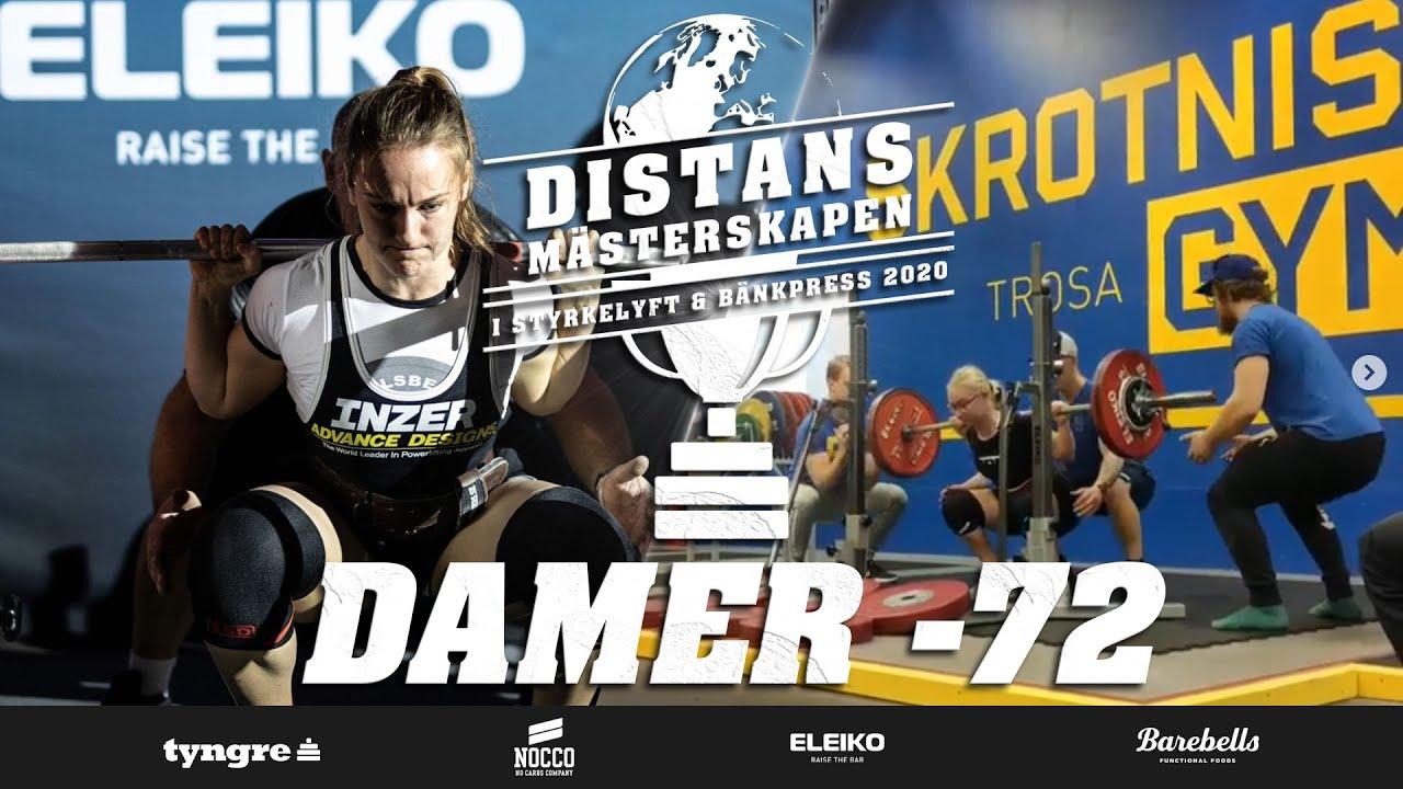 Distansmästerskapen i Styrkelyft & Bänkpress – Damer -72