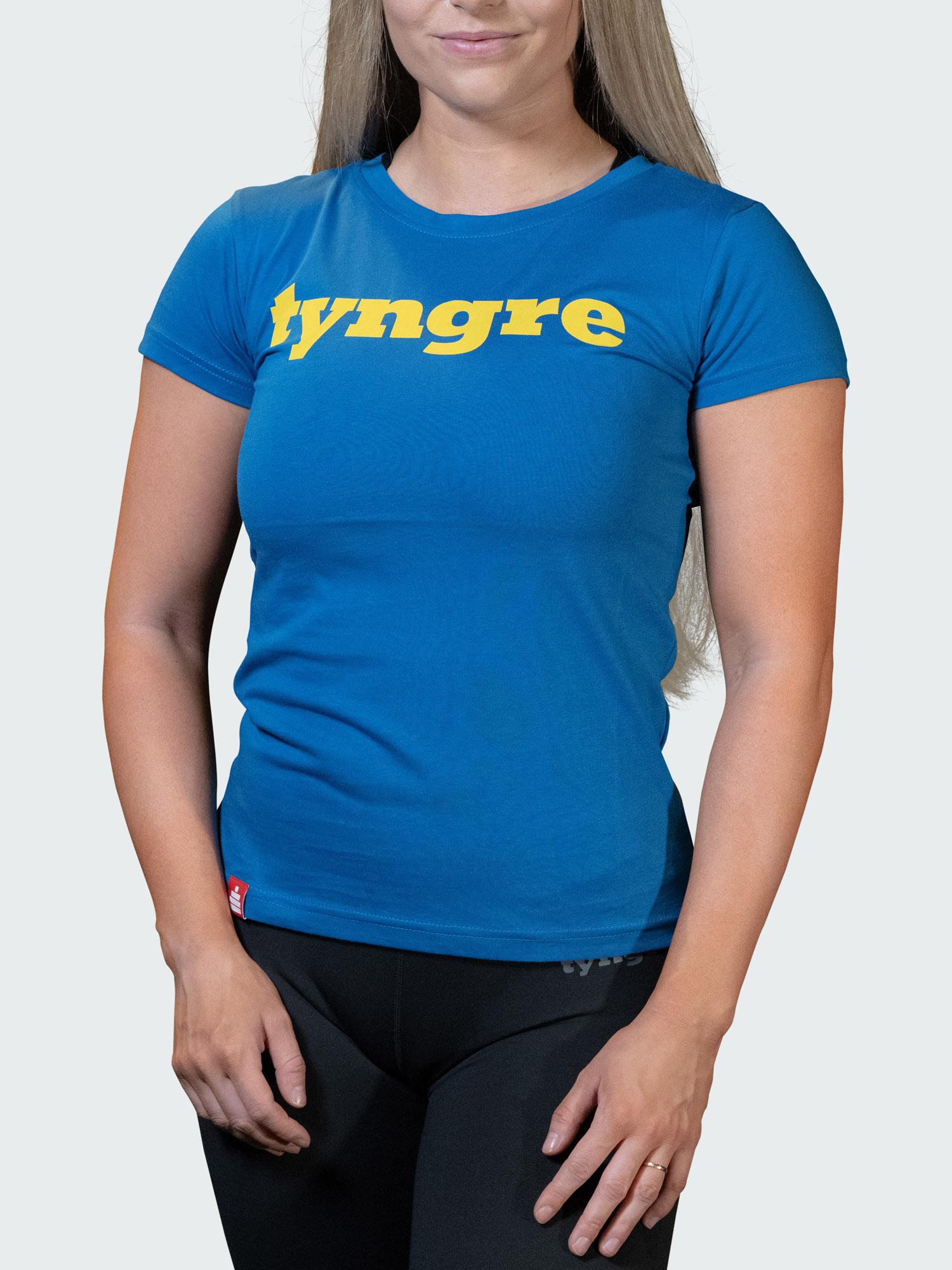 T-Shirt Logo Womens Blue Yellow