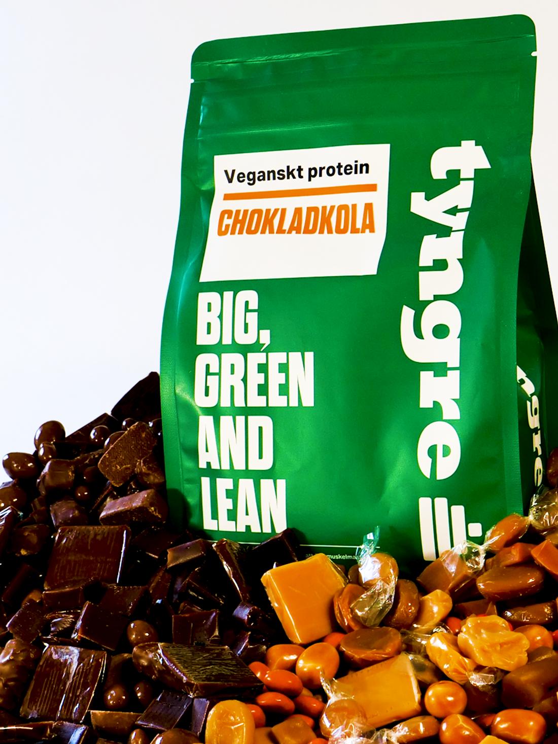 Veganskt Protein Chokladkola