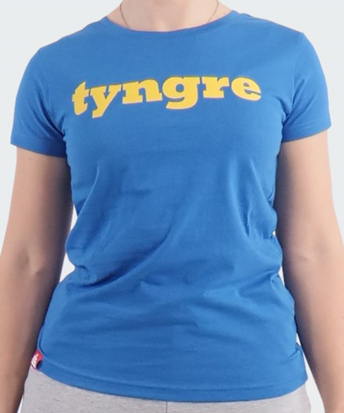 Tyngre t-shirt logo blue yellow