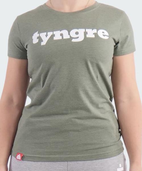 Tyngre T-shirt Dam grön