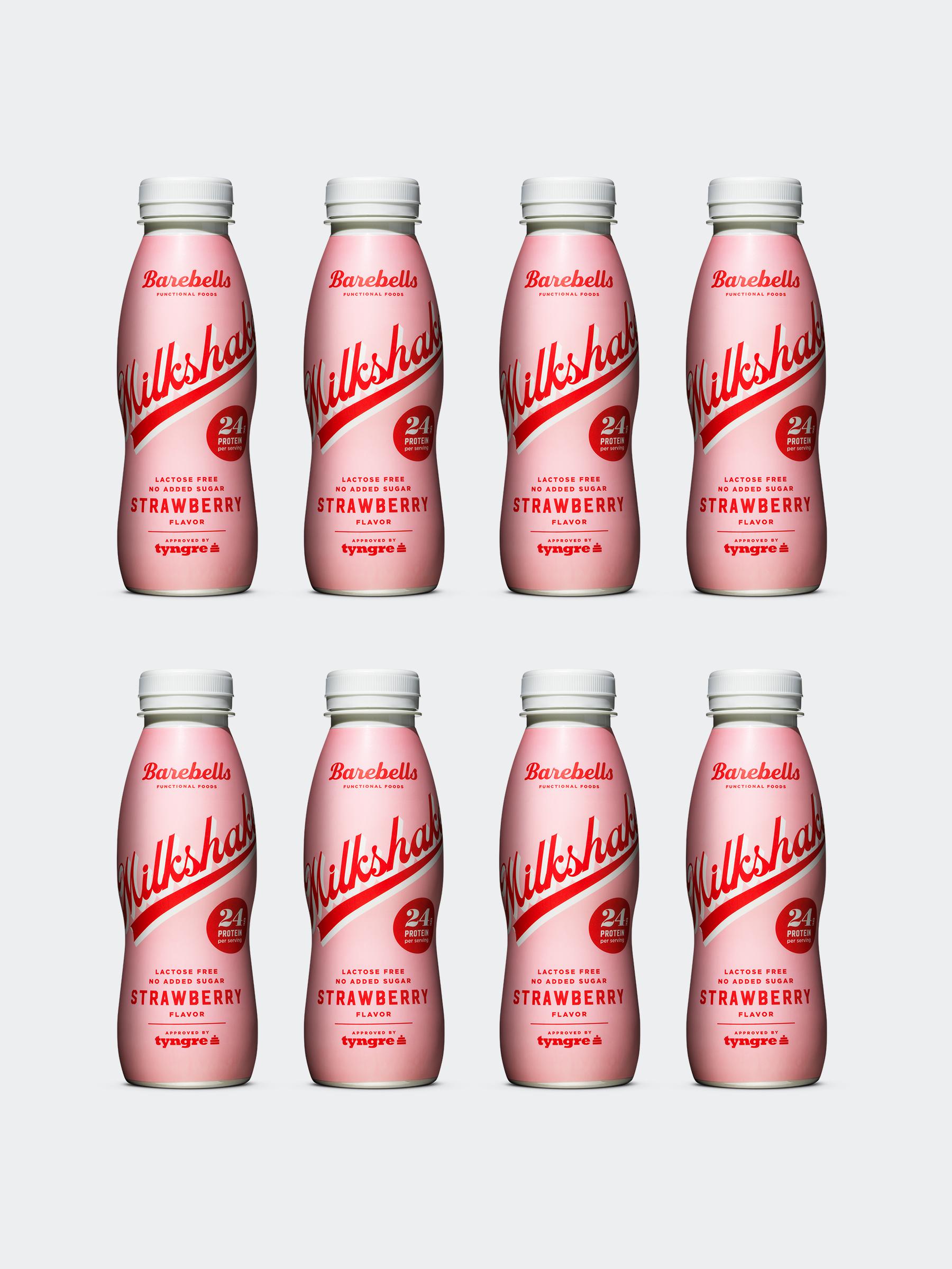 Barebells Milkshake Strawberry 8-pack