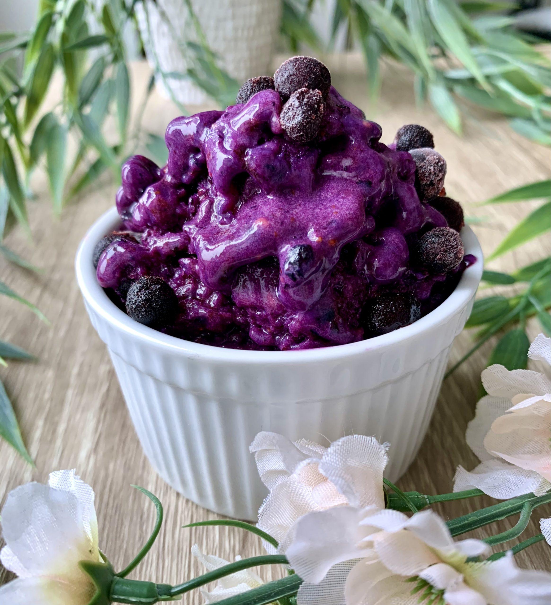 Kaseinglass vanilj & blåbär