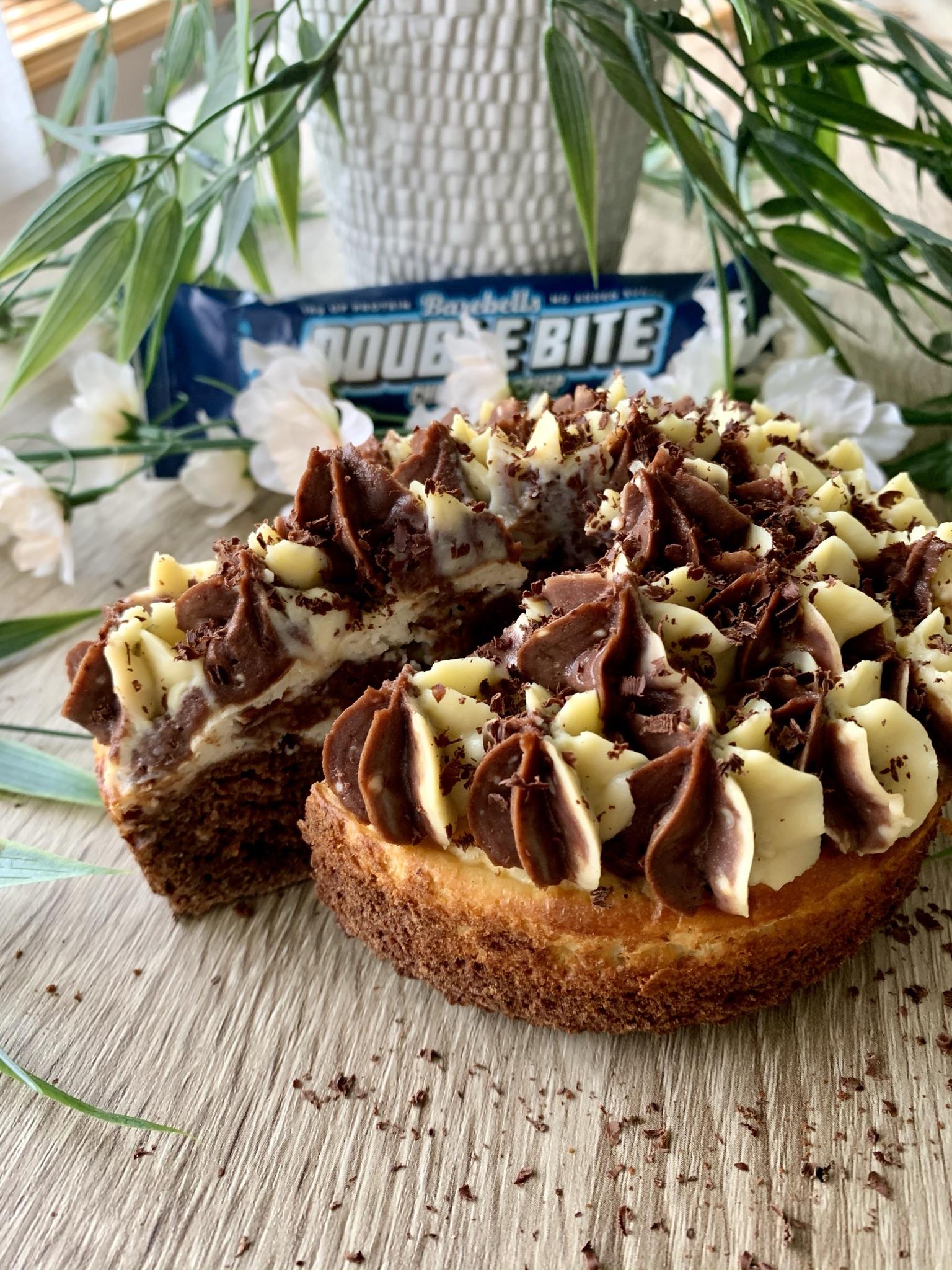 Proteinrik Cheesecake Brownie
