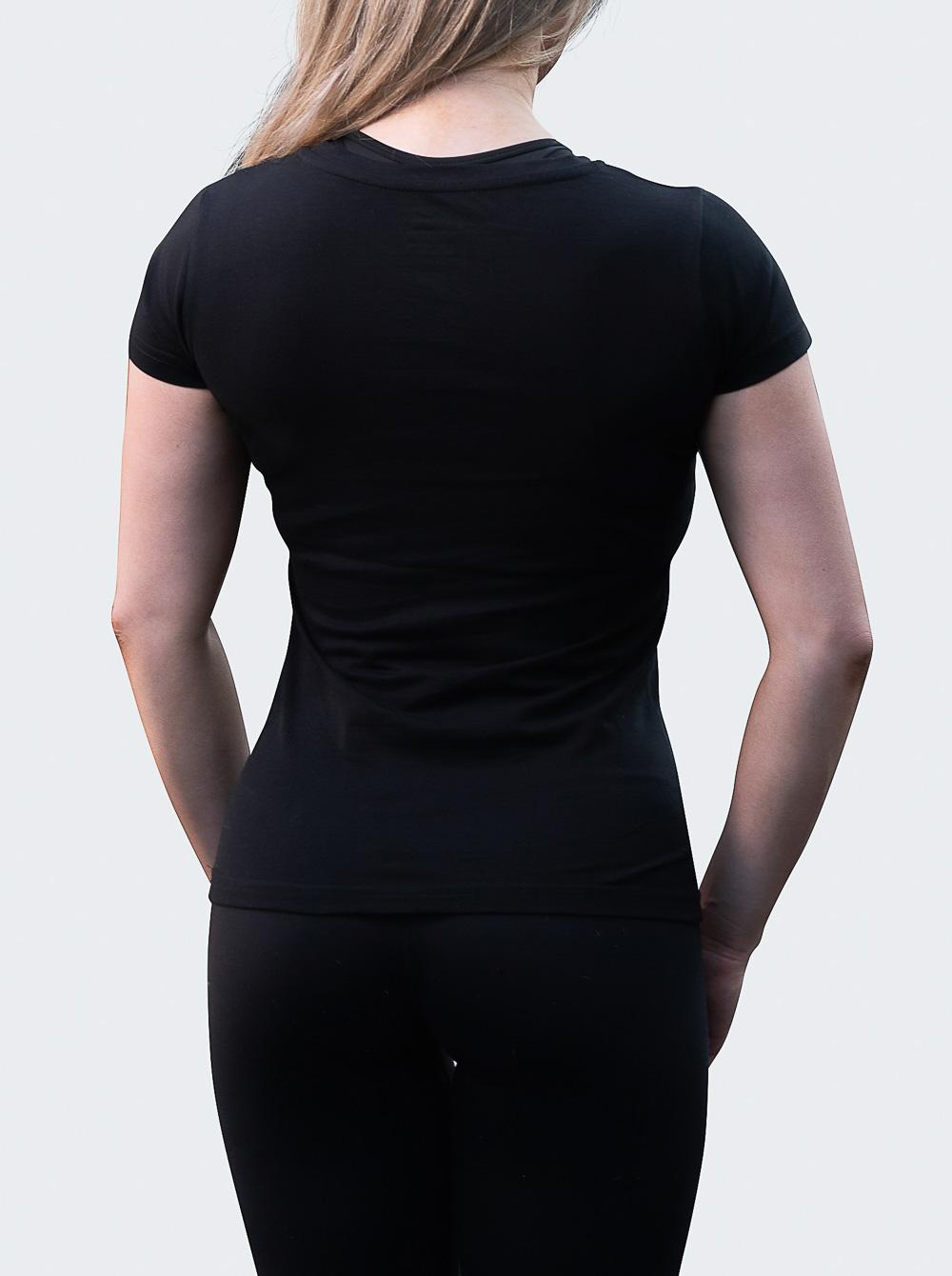 T-shirt Meet Womens Black