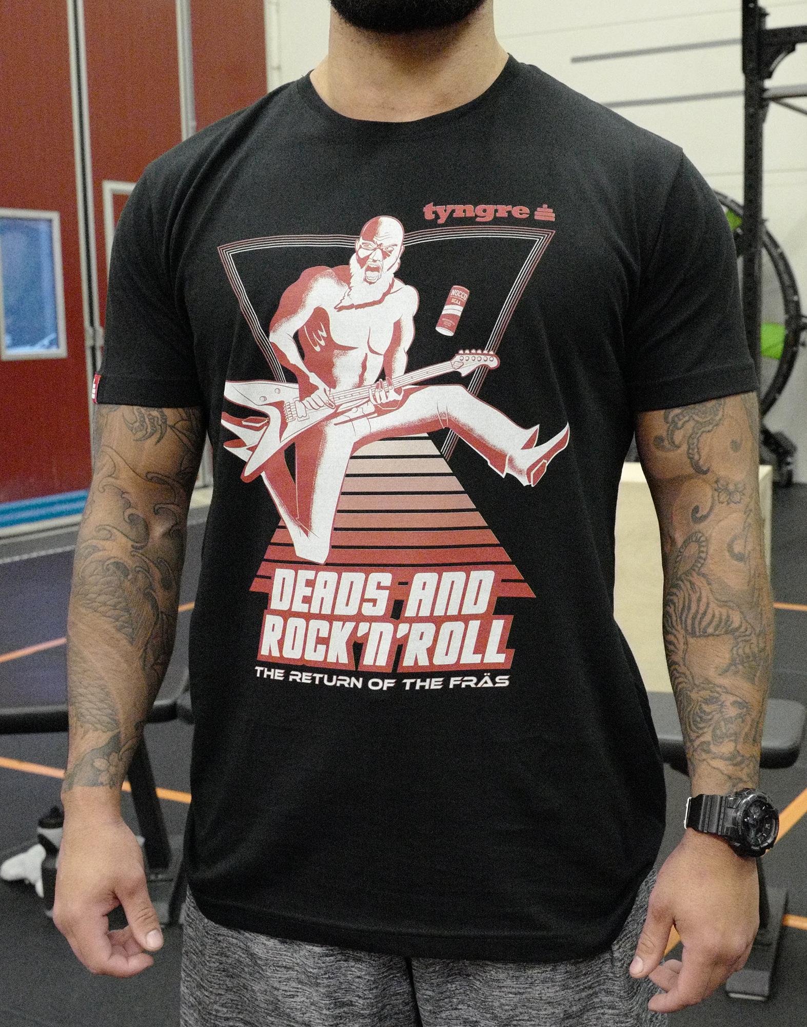 T-shirt Deads And Rock ´n´ Roll Men´s Black