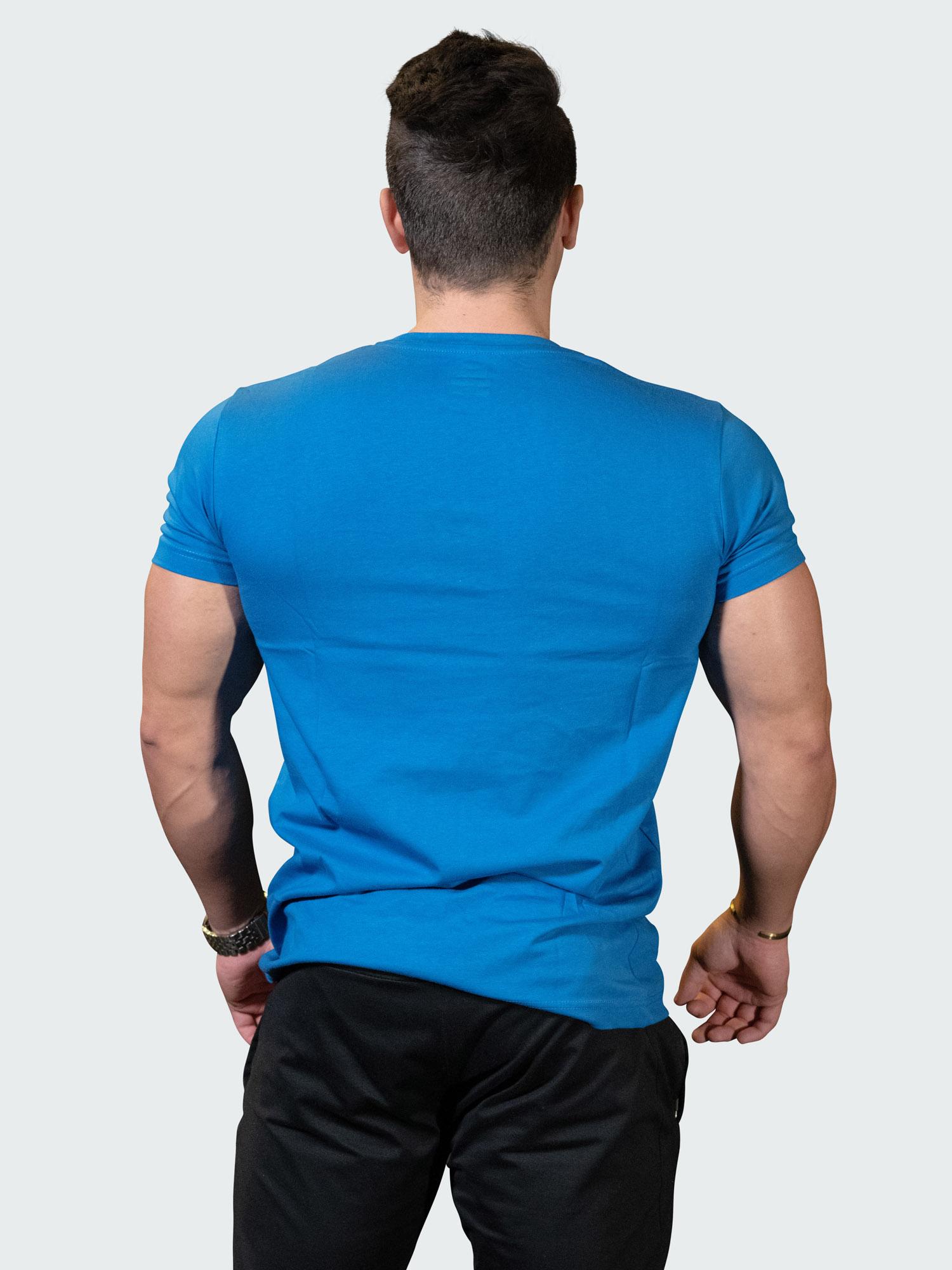 T-Shirt Logo Mens Blue Yellow
